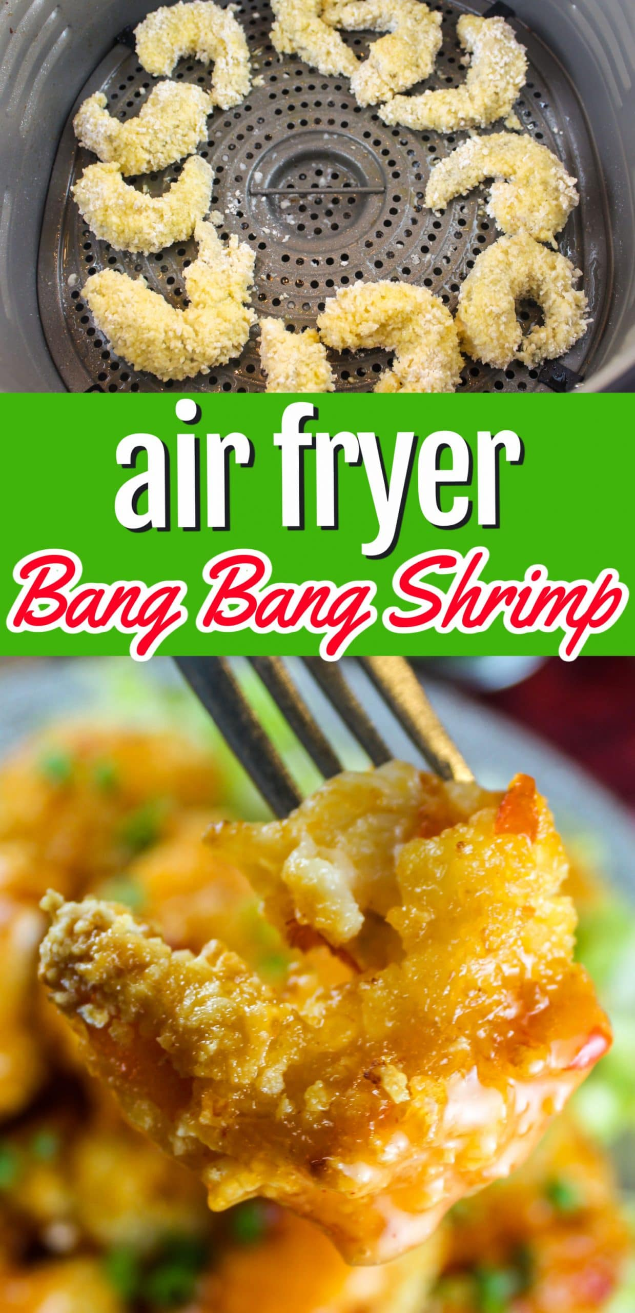 Air Fryer Bang Bang Shrimp is such a fun shrimp dish! You can eat them on their own or pop them in tortillas for some tacos. It's also easy to make - and a little messy - which come on - is the fun part!  via @foodhussy