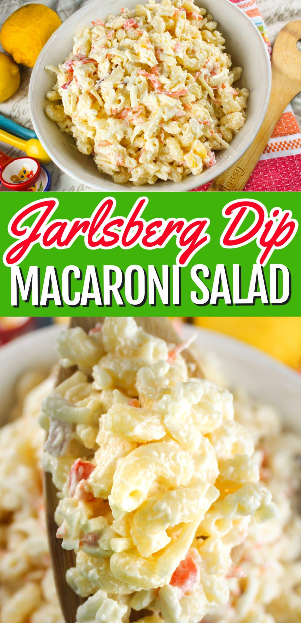 With the holidays fast approaching, quick and easy side dishes are always needed! This Jarlsberg Dip Macaroni Salad is going to be a sure fire hit at your dinner table! Plus it's SO SIMPLE to make! via @foodhussy
