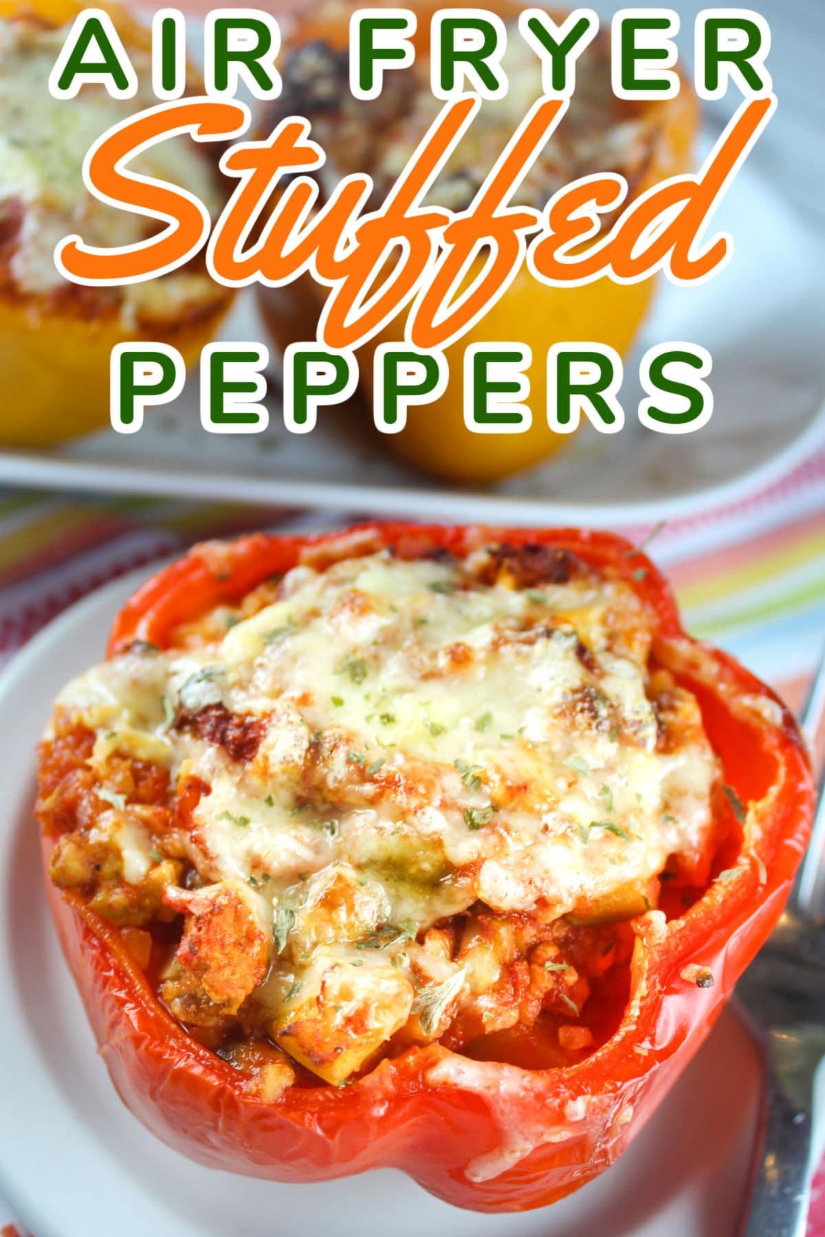 It's a new year and that means HEALTHY food starts today! These Air Fryer Stuffed Peppers are also made for Weight Watchers! You won't believe that 1 1/2 peppers are only 1-2 points (depending on your plan) and for those not on WW - I'll tell you - they are delicious AND HEALTHY! via @foodhussy