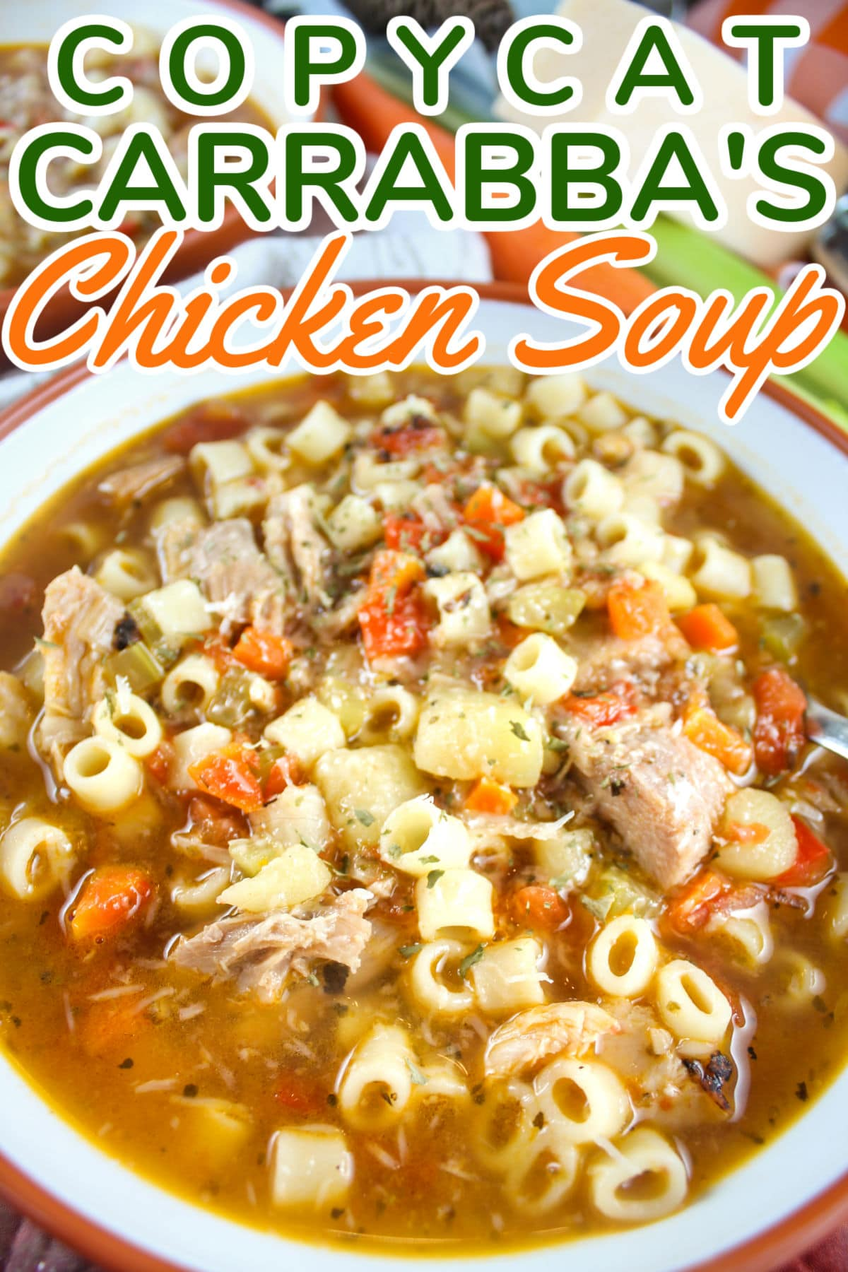 Carrabba's Spicy Chicken Soup is easily going down as my new go-to soup recipe! It's layered with flavors and oh-so comforting!!!! Plus - I used leftover rotisserie chicken to make it even quicker.  via @foodhussy