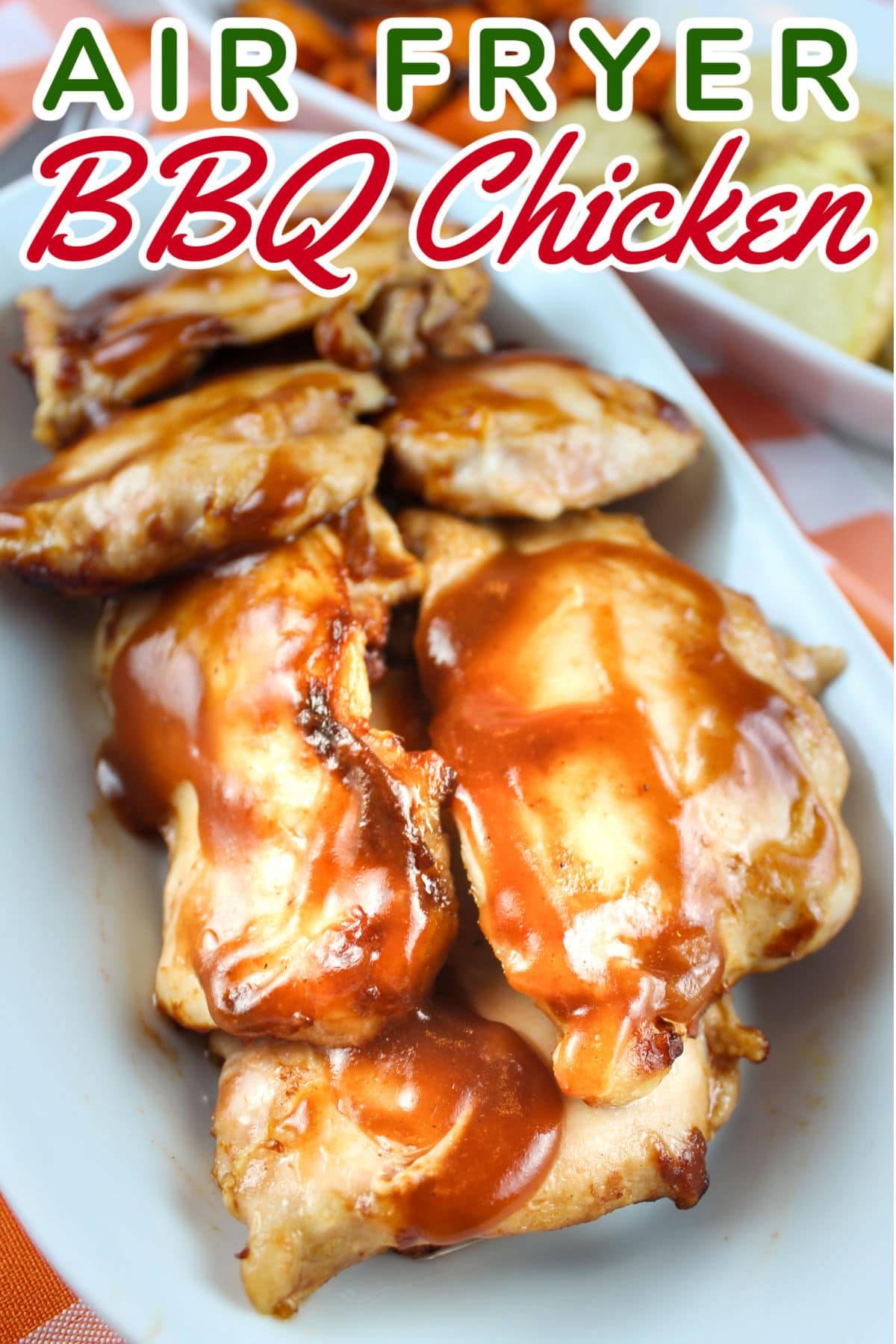 Air Fryer BBQ Chicken Thighs are a new staple for me! I always love chicken thighs because they're so juicy - and this is so simple. Add a little bbq sauce (sugar free if you're on Weight Watchers like me) and 10 minutes later - you're eating dinner!  via @foodhussy