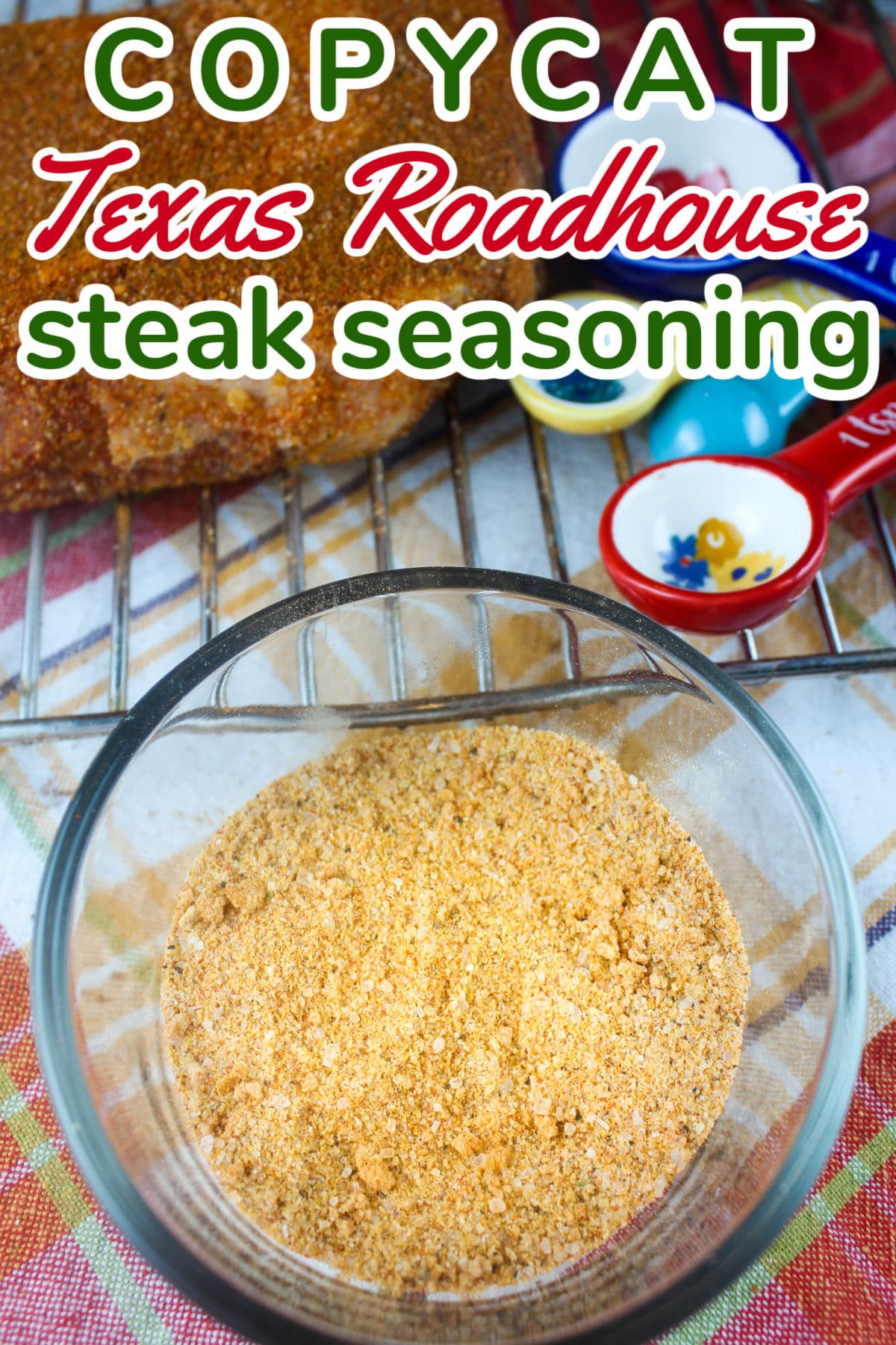 This Copycat Texas Roadhouse Steak Seasoning is dead-on to the real thing! How do I know? I went to Texas Roadhouse and asked for some seasoning on the side! Then I took it home to copycat it! I did a side-by-side taste & create to make my own copycat version. via @foodhussy