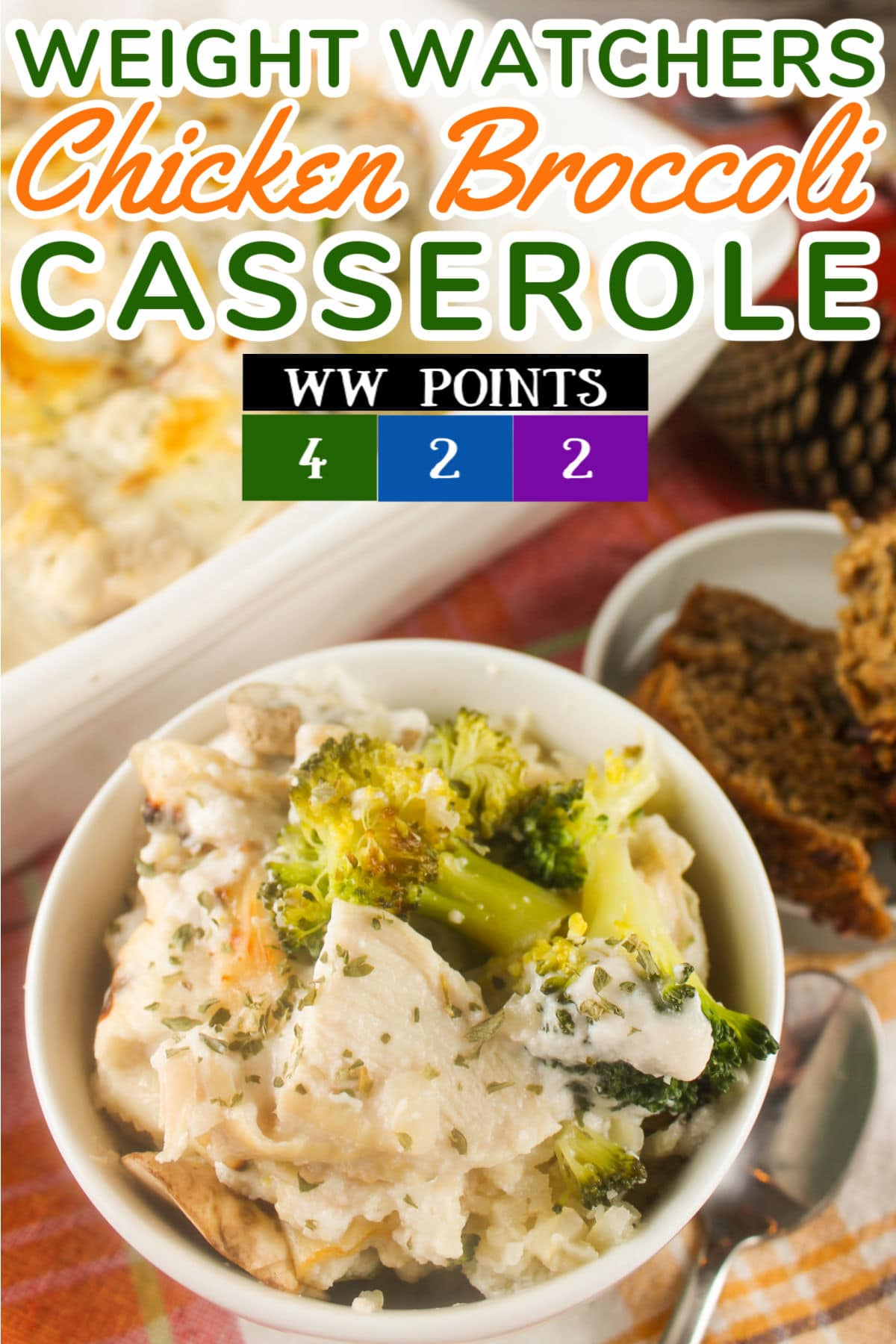Weight Watchers Chicken Broccoli casserole has all the flavors you love but so much less fat and calories! Swapping out the regular rice for cauliflower rice is a great start - but I have a couple other tweaks you'll have to check out! This serves a family or leaves you with leftovers for a quick lunch!  via @foodhussy