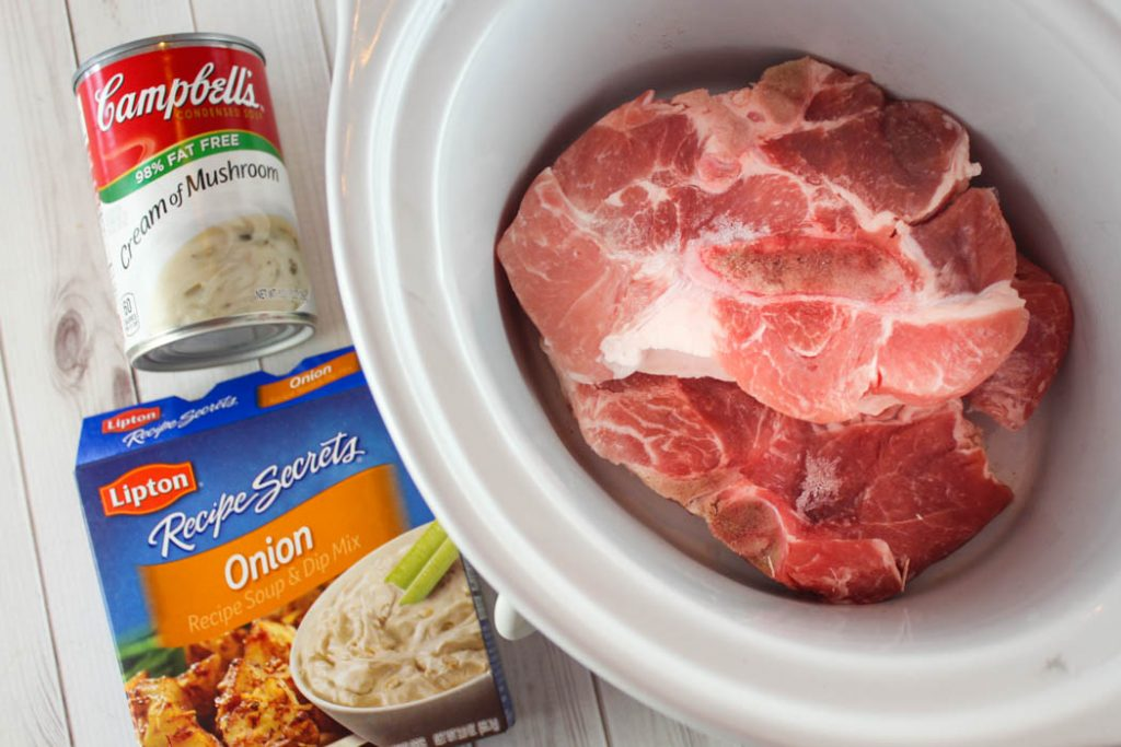 3 Ingredient Crock Pot Pork Chops