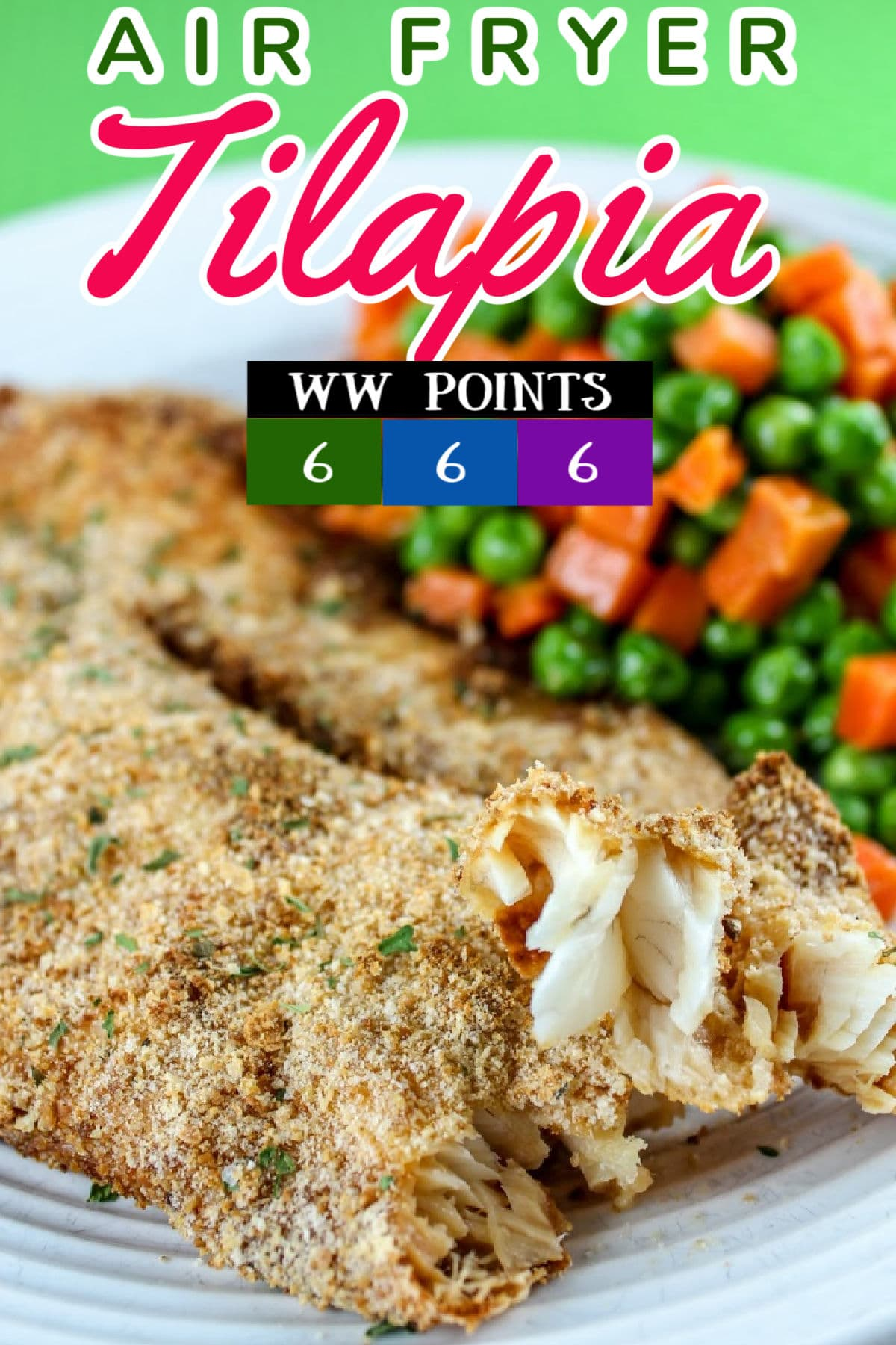 Air fryer tilapia is so simple and easy! It's a fish you can't screw up and it cooks quickly because it's thin. I love it! I used a light breading and made a flavorful crunchy fish dinner in minutes! via @foodhussy