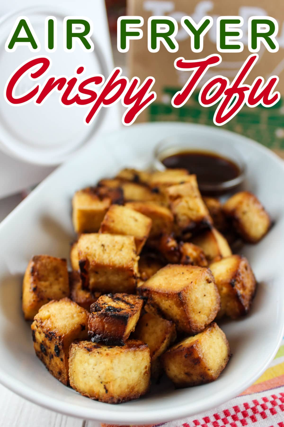 Air Fryer Tofu is really easy and can be used in place of chicken or steak in so many recipes - or just enjoyed as a healthy appetizer on its own.  via @foodhussy