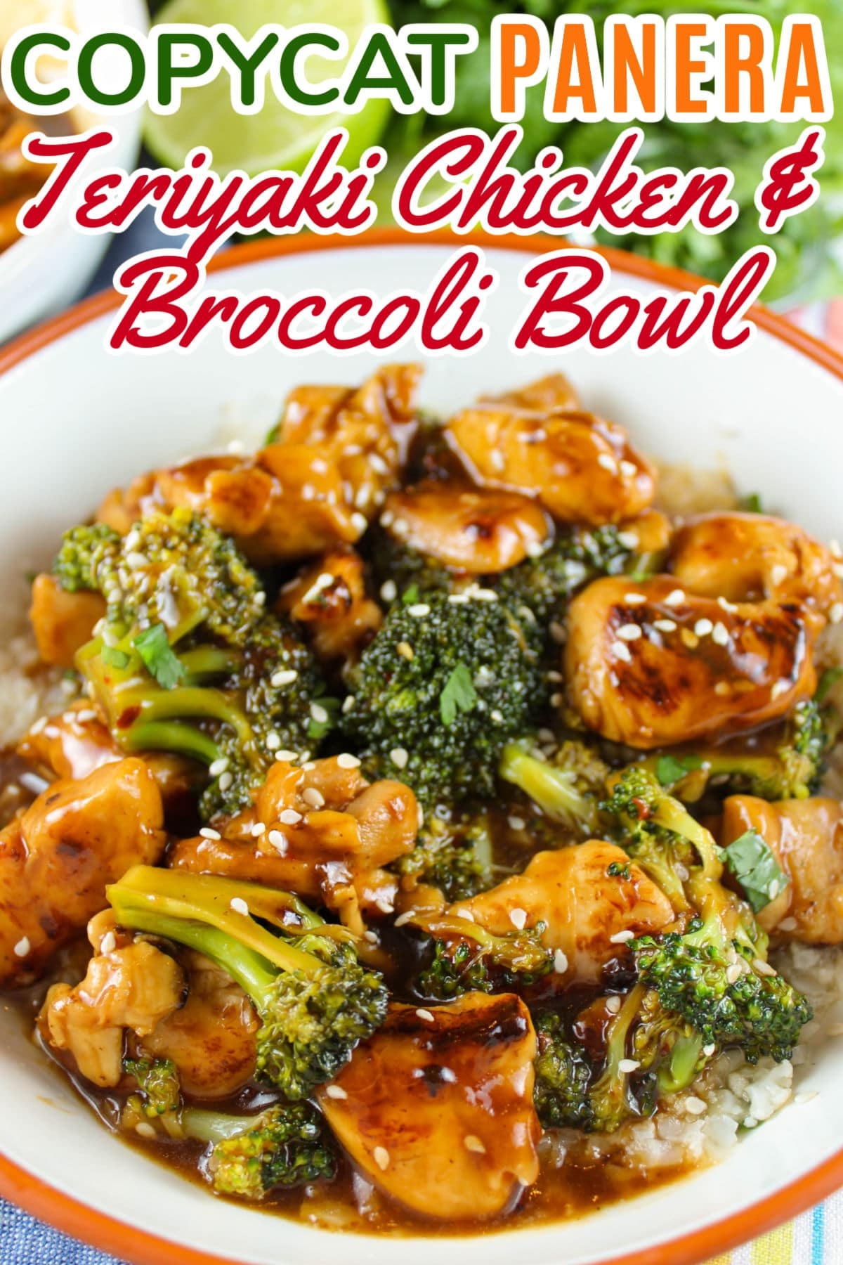 Panera's new Teriyaki Chicken & Broccoli Bowl is new to the menu and I love it! Frankly - I loved it so much I came home and made it the very next day! It's a little sweeter than some teriyaki sauces I've tasted before - but it is super delicious and ready in about 15 minutes!  via @foodhussy