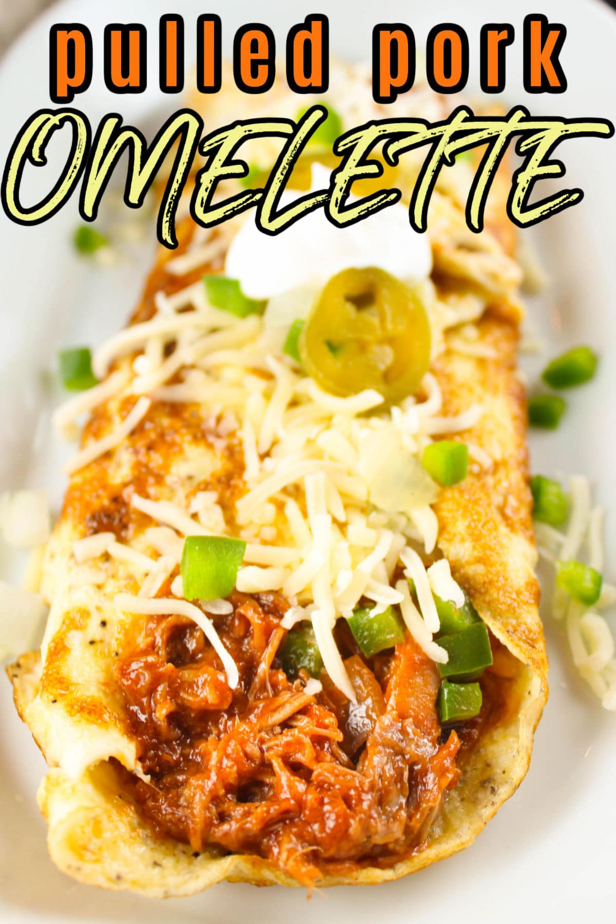 This BBQ Pulled Pork Omelette is a new favorite breakfast recipe in our house! Meaty, sauce, spicy- so much deliciousness! And if you've never made an omelette - no worries - I can walk you through it! So easy!  via @foodhussy