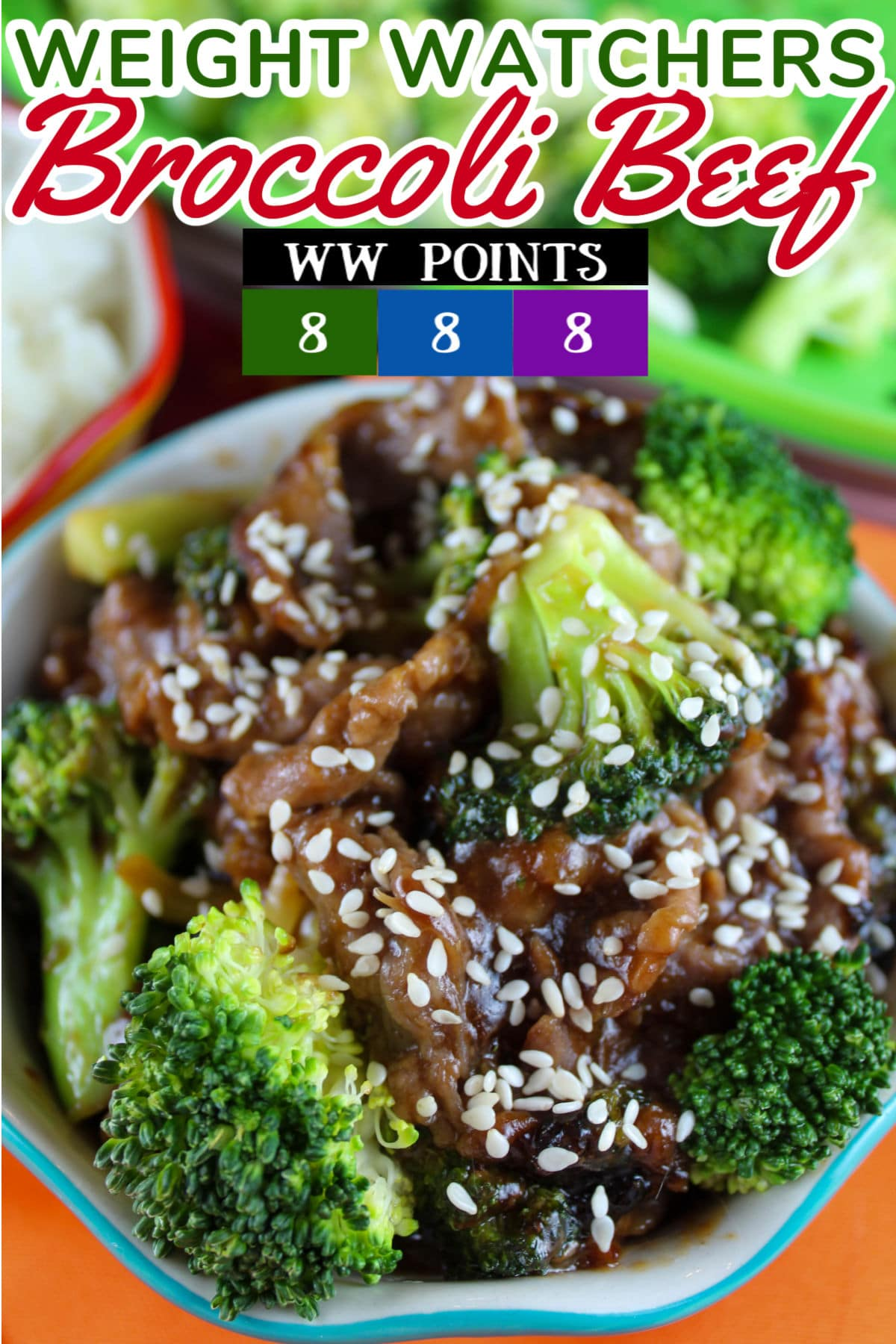 This Weight Watchers Beef & Broccoli has a rich homemade teriyaki sauce and loads of fresh broccoli! This has quickly become a favorite because you can make it in about 10 minutes.  via @foodhussy