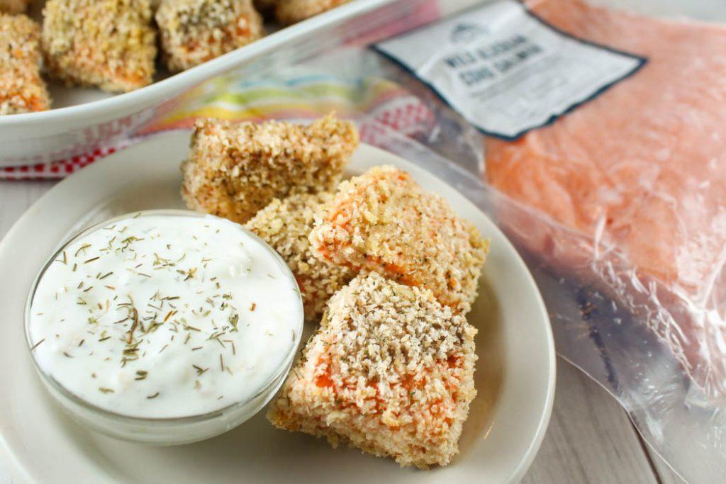 Air Fryer Salmon Nuggets