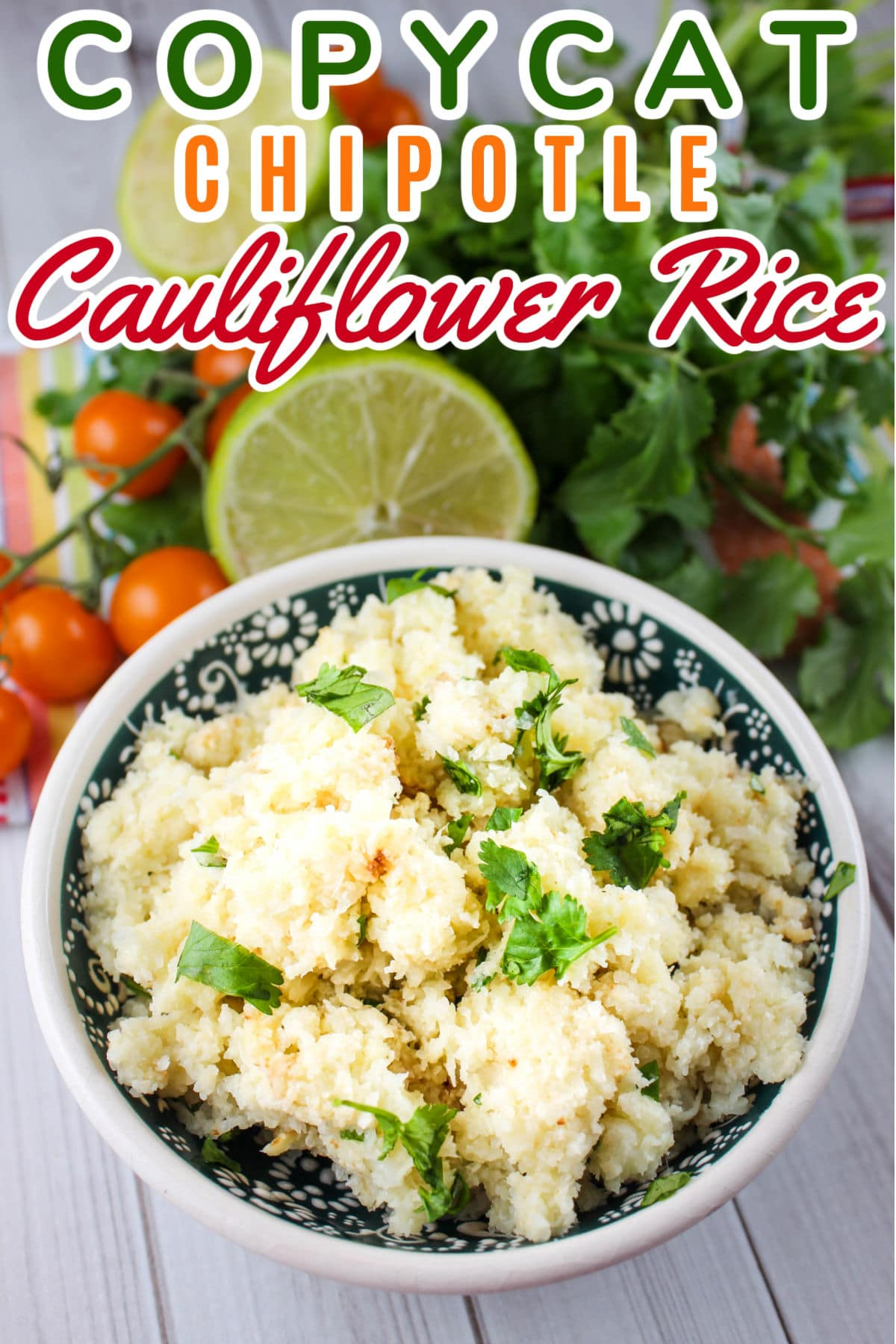 Copycat Chipotle Cauliflower Rice sure has saved the day in my house! I made this cauliflower rice in about 10 minutes and it's super tasty!  via @foodhussy