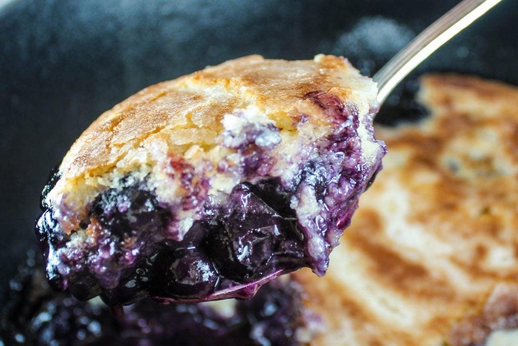 Dutch Oven Blueberry Cobbler