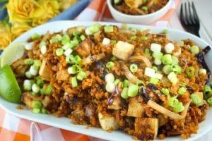Butternut Squash Fried Rice with Crispy Tofu