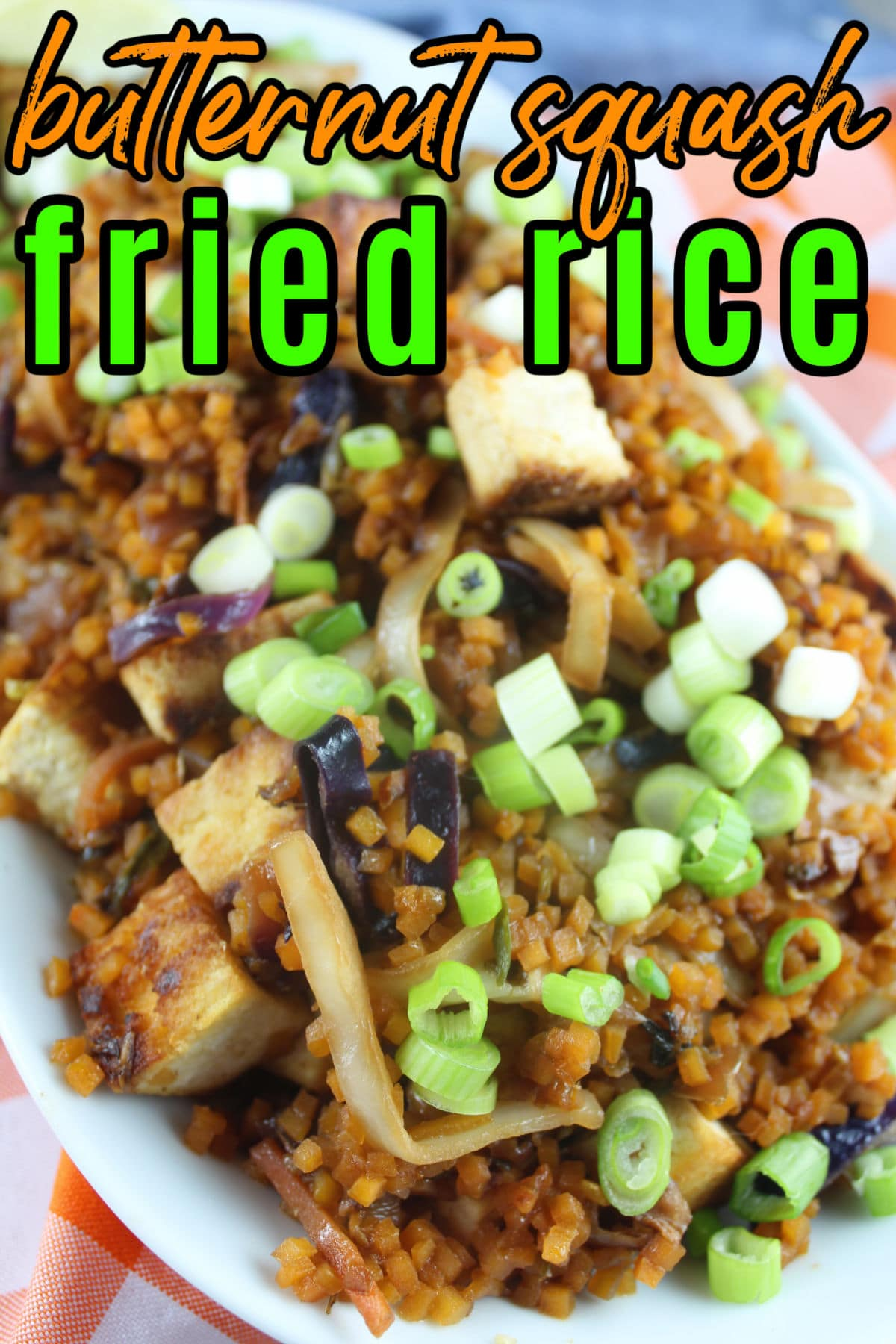 """Butternut Squash Fried Rice will open your eyes to a whole new Meatless Monday! This dish is so tasty and easy to make - and FILLED with veggies! Just a few ingredients layered on top of each other - make a delicious """"fried rice"""" out of butternut squash.  via @foodhussy"""