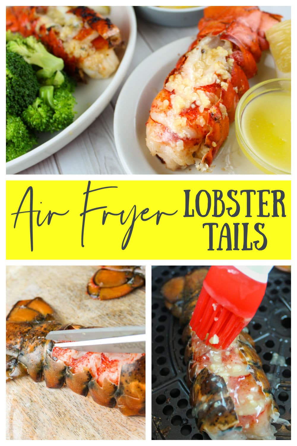 Air Fryer Lobster Tails are a new favorite in my house! I never knew it could be SO SIMPLE! I always thought of Lobster as such a fancy dish - I just never realized it was simple! A little snip snip - then a little butter and garlic - air fry and done! Plus - it's on the table in under 10 minutes!  via @foodhussy