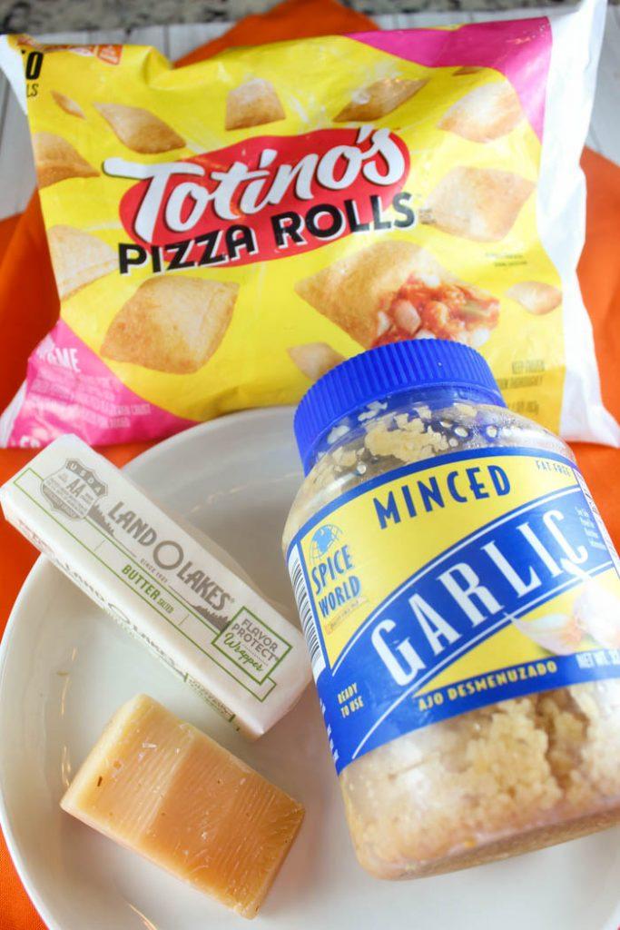 Air Fryer Pizza Rolls with Garlic Butter