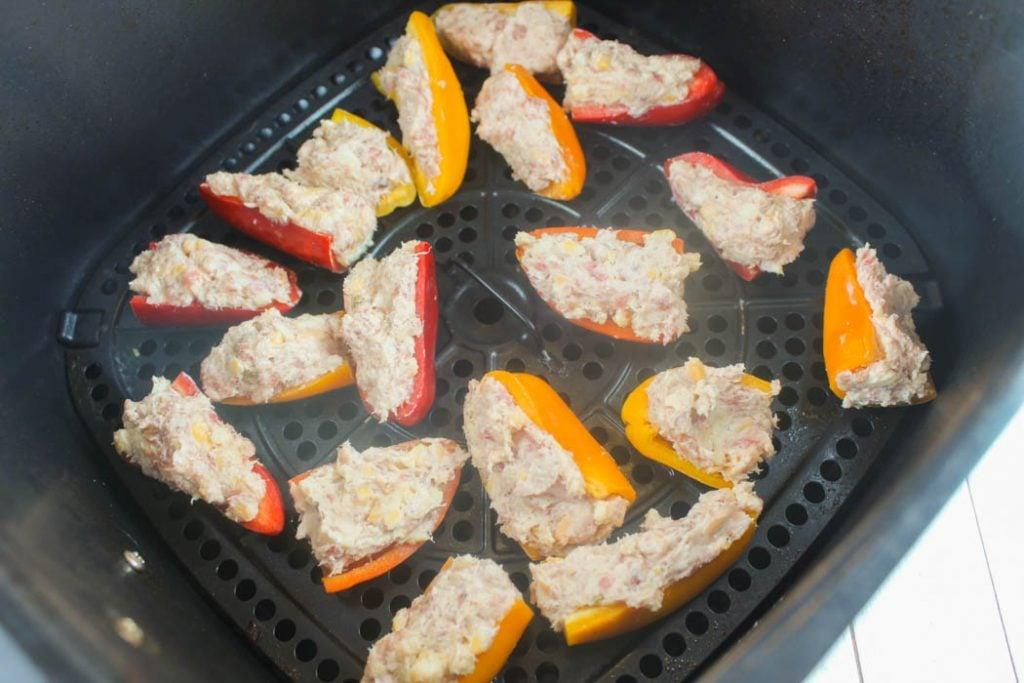 Air Fryer Stuffed Mini Peppers