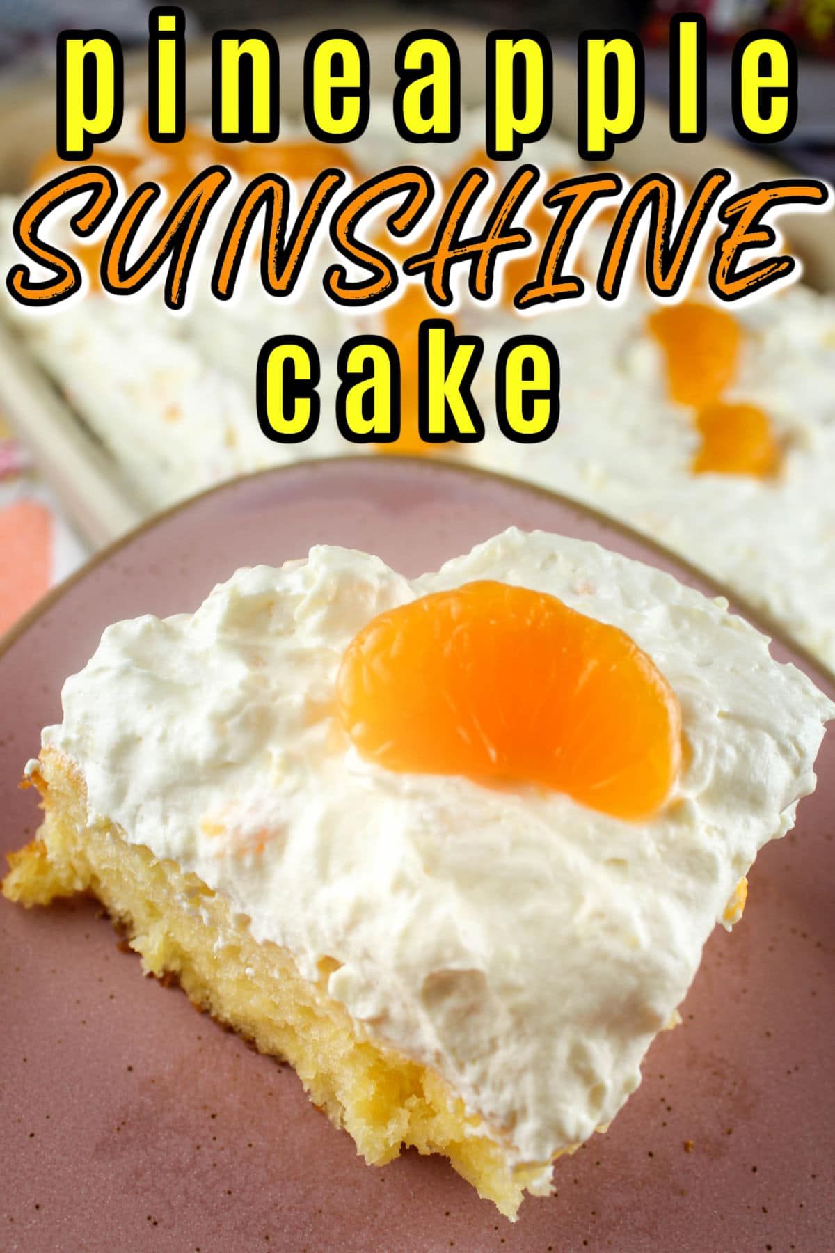 This Pineapple Orange Sunshine Cake could be the happiest cake on the planet! I mean - it's got SUNSHINE in the name! I made this to take to my friend's Easter lunch - but it's a great cake anytime and I doctored it up a bit to make it even more moist and delicious!  via @foodhussy
