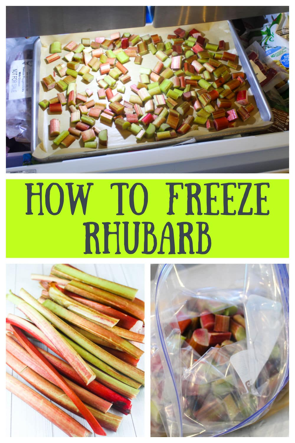 Freezing rhubarb is so simple! 3 steps and you're done! Save all that summer flavor all year long! via @foodhussy