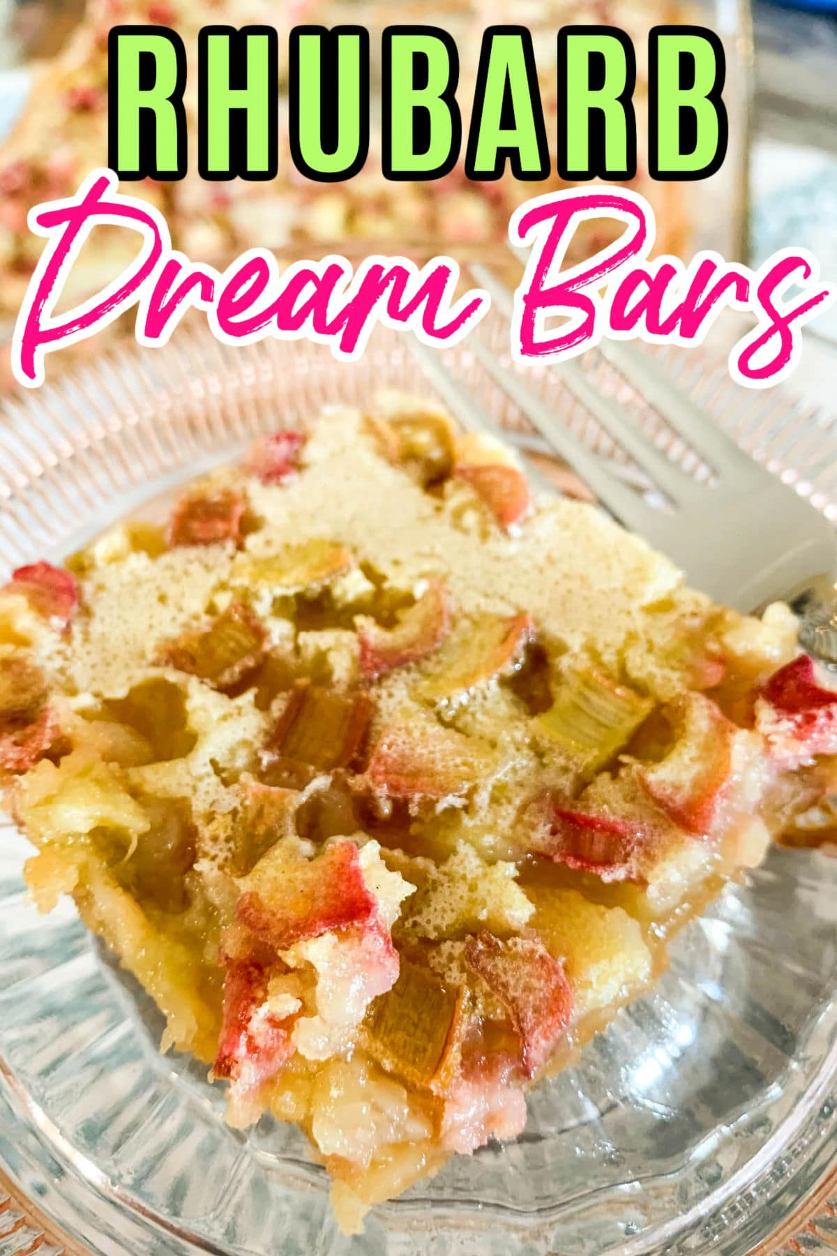 Rhubarb Dream Bars are the perfect early summer treat! The rhubarb is ripe and you just need a little bite of sweetness after a day of summer fun and grilling. These dream bars go together in just a few minutes and they are delicious!  via @foodhussy