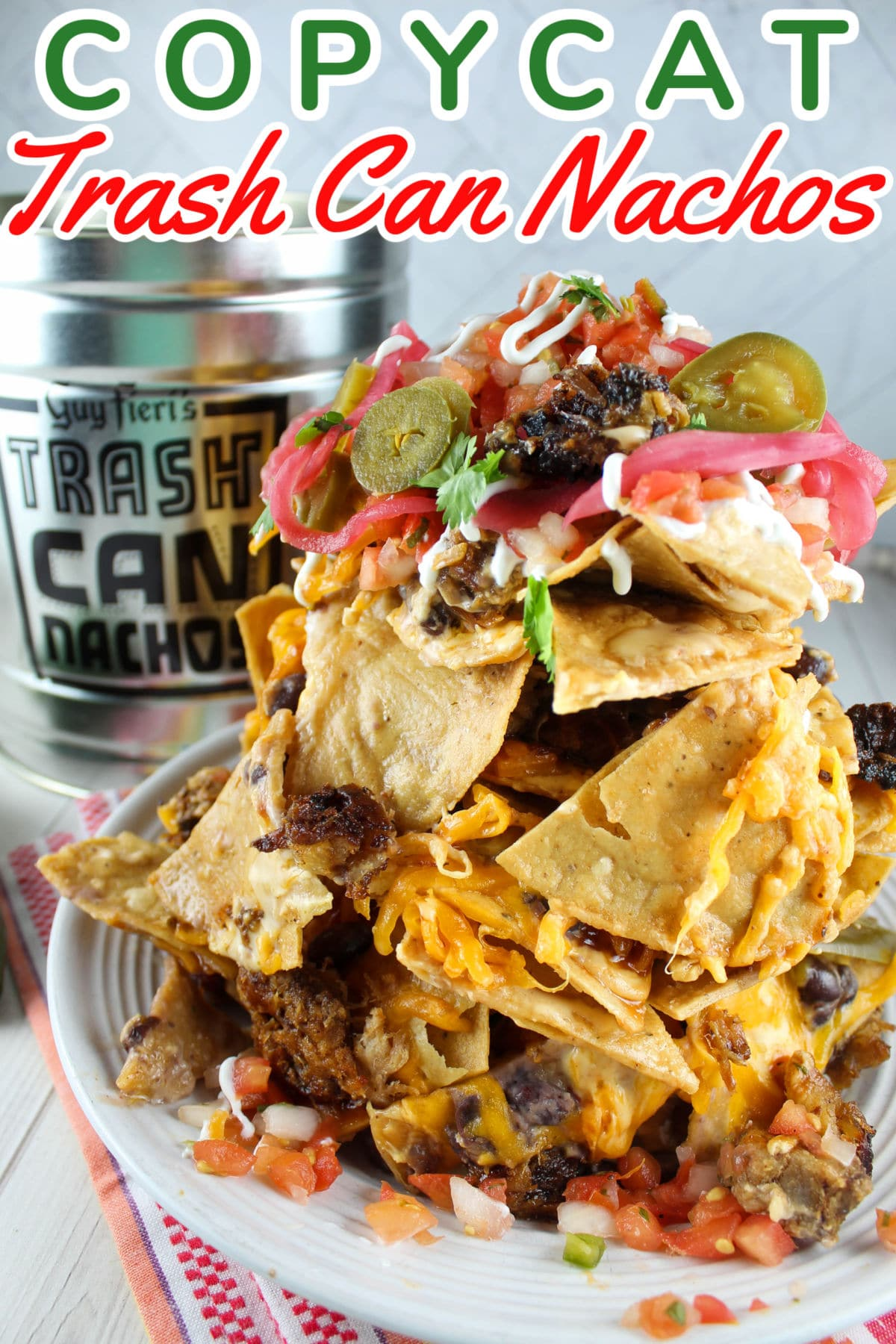 Guy Fieri's Trash Can Nachos are legendary and I made them at home - so simple and really delicious - all the layers are perfect! The key is all in the layering - which gives you the perfect cheese to chip ratio!  via @foodhussy