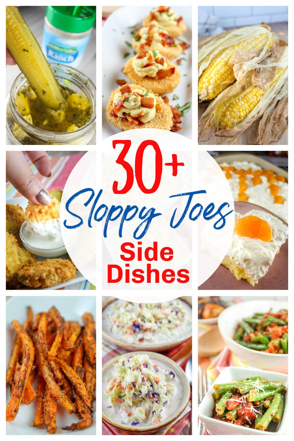 What goes best with Sloppy Joes? I mean - you've got the protein and the carbs covered - so where do you go from there? I've got 30+ side dish recipes and ideas to keep your family smiling and fed!  via @foodhussy