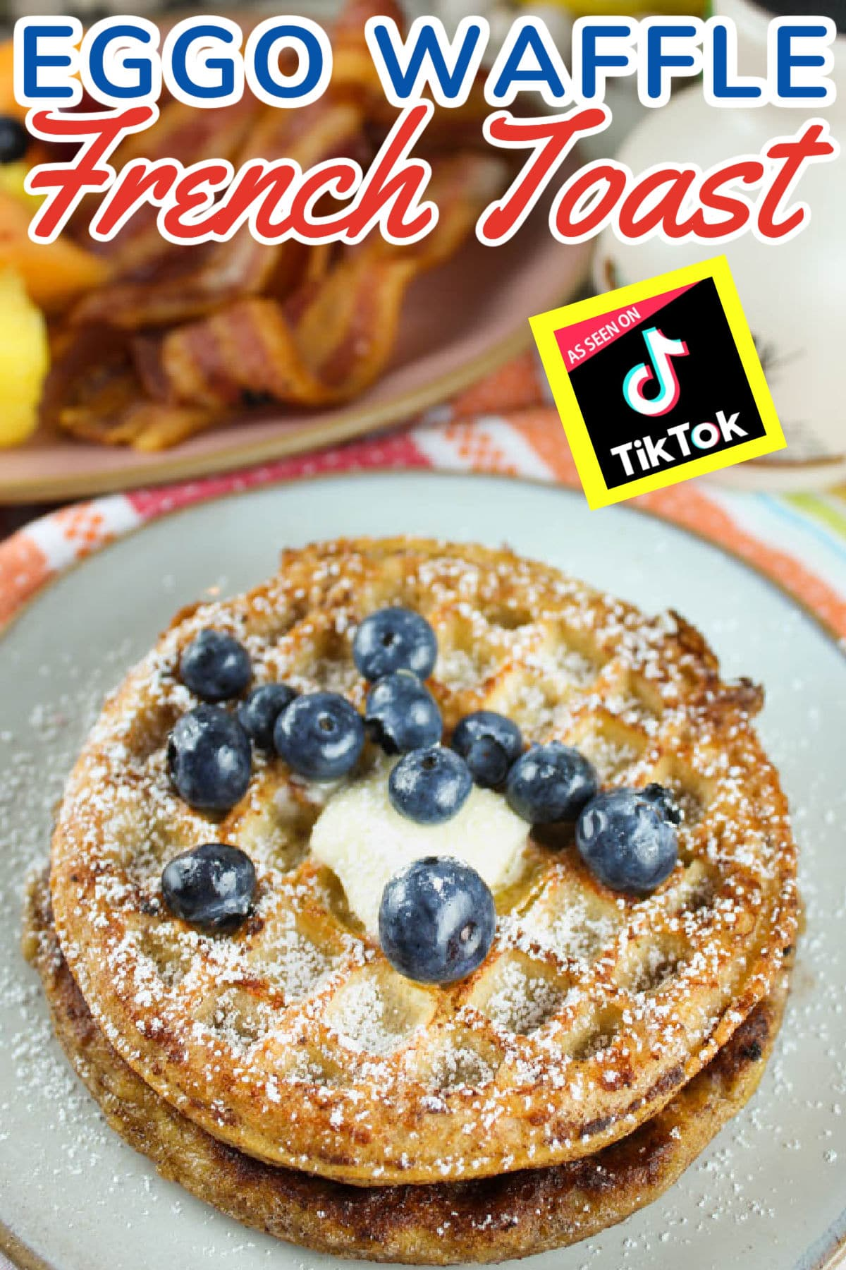 I first saw this Eggo Waffle French Toast on TikTok and HAD to make it myself and WOW - I'm so glad I did! I don't think I'll ever eat plain Eggo waffles again!! They're crispy but so much more flavor - with the vanilla and cinnamon from the french toast batter.  via @foodhussy