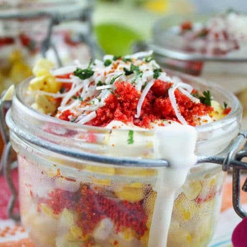 Elote (Mexican Corn) in a cup