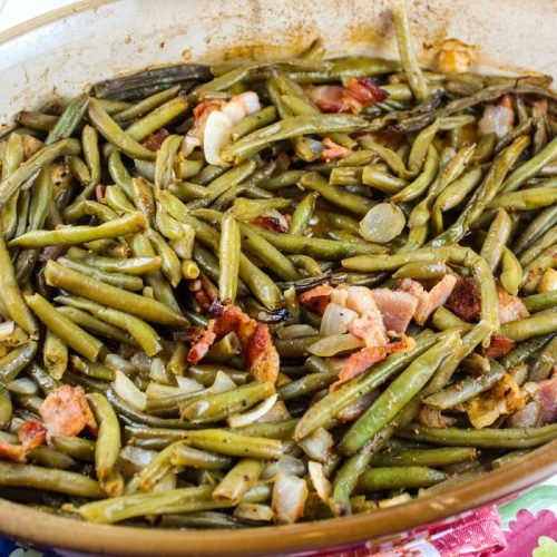 Smoked Green Beans with Bacon