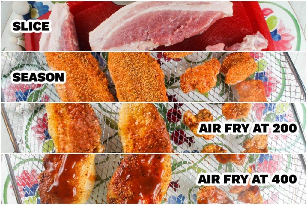 how to make air fryer pork belly