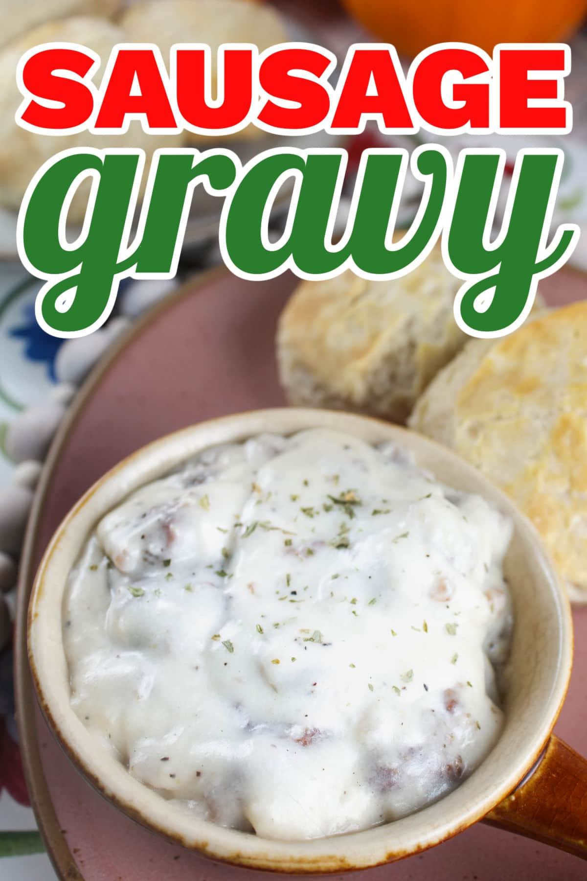 This Sausage Gravy is ready in minutes and it's so easy - it's foolproof! I have this for breakfast all the time and it makes a great base for breakfast pizza!  via @foodhussy