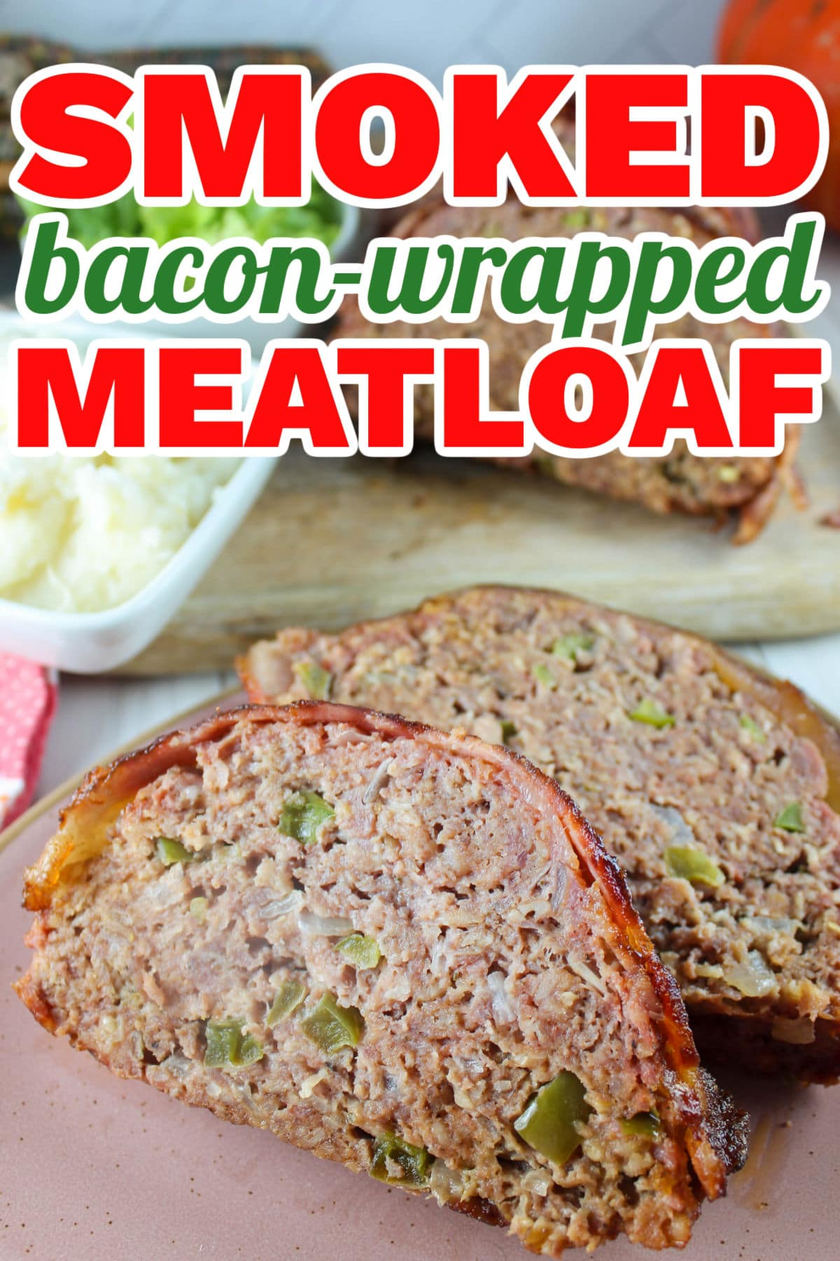 This Traeger Smoked Bacon-Wrapped Meatloaf is not your mommas meatloaf! It's juicy, smoky and there's no ketchup in sight! As with most things on smoker - set aside a couple of hours to make this - but it will be worth it!  via @foodhussy