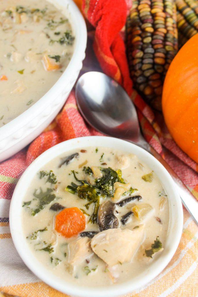 Creamy Autumn Chicken & Wild Rice Soup