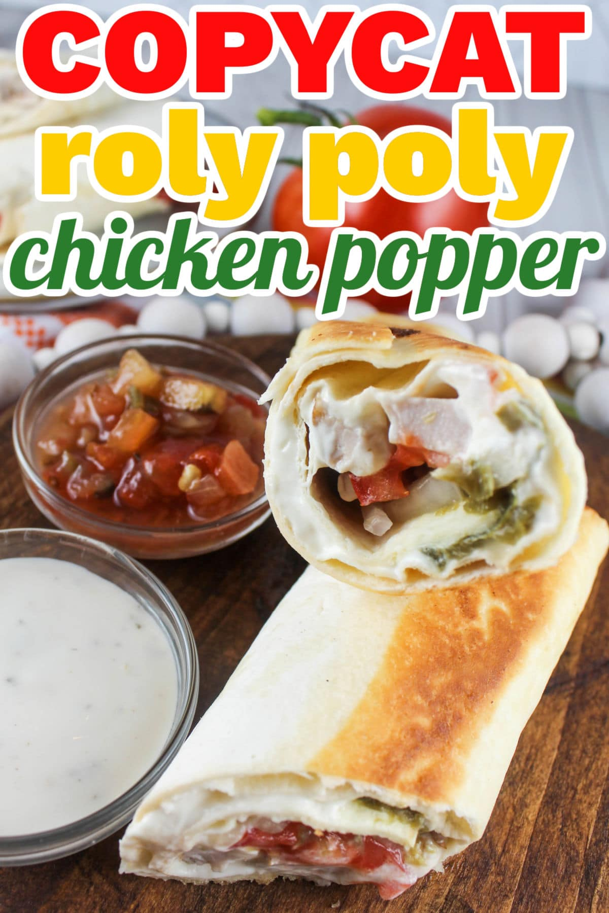 This Chicken Popper Wrap is my favorite lunchtime treat! Roly Poly was my favorite go-to stop for a healthy lunch. This wrap is filled with chicken, cream cheese, jalapenos and yummy veggies and you'll want to make it every day - especially because you're saving calories too!  via @foodhussy