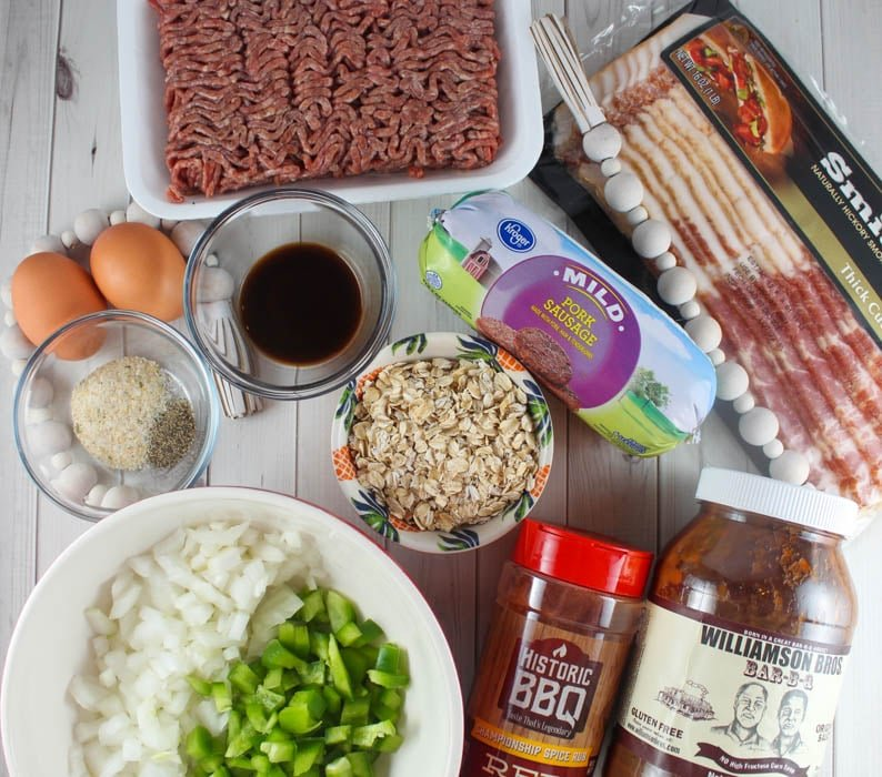 ingredients for smoked meatloaf