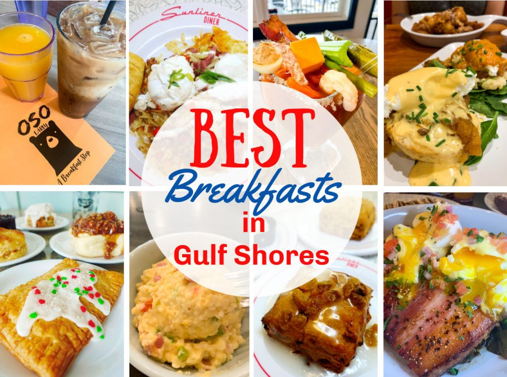 These are the BEST breakfasts in Gulf Shores! I recently went on vacation down there and it's always my favorite spot. My favorite meal of the day is breakfast and I have definitely eaten my way through Gulf Shores – so you can trust me on this one!